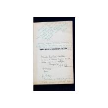 REPUBLICA DISPERATILOR, ROMAN de G. M. VLADESCU - BUCURESTI, 1935 *DEDICATIE