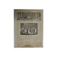 RESBOIUL  - ZIAR CU APARITIE ZILNICA , IN BUCURESTI , NR. 917 , JOI  , 31 IANUARIE , 1880 , PREZINTA PETE