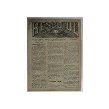 RESBOIUL  - ZIAR CU APARITIE ZILNICA , IN BUCURESTI , NR. 955   , DUMINICA , 9 MARTIE , 1880 , PREZINTA PETE