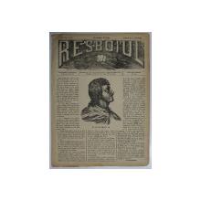 RESBOIUL  - ZIAR CU APARITIE ZILNICA , IN BUCURESTI , NR. 986   , MIERCURI , 9 APRILIE  , 1880 , PREZINTA PETE