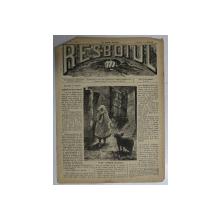 RESBOIUL  - ZIAR CU APARITIE ZILNICA , IN BUCURESTI , NR. 988   , VINERI , 11 APRILIE  , 1880 , PREZINTA PETE