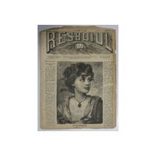 RESBOIUL  - ZIAR CU APARITIE ZILNICA , IN BUCURESTI , NR. 989   , SAMBATA  , 12 APRILIE ,  1880 , PREZINTA PETE , COLTUL DIN DREAPTA SUS ESTE INDOIT