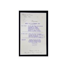 RESTAURANT CAPSA - ATHENEE PALACE , MENIU , DEJUN , MARTI , 15 SEPTEMBRIE , 1931