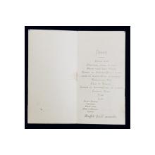 RESTAURANT CHATEAUBRIAND BOULEVARD , MENIU , 18 NOIEMBRIE , 1924