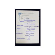 RESTAURANT CHATEAUBRIAND BOULEVARD , MENIU , 8 DECEMBRIE , 1930