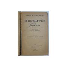 RESUME DE LA PHILOSOPHIE de HERBERT SPENCER par F. HOWARD COLLINS , 1894