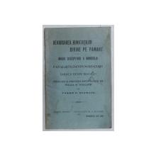 REVARSAREA BUNATATILOR DIVINE PE PAMANT  de VASILE C . STAMATE , 1922