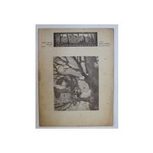 REVISTA CARPATII, VANATOARE, PESCUIT, CHINOLOGIE, ANUL XIV ,  15 IANUARIE  CLUJ 1946, NR. 1
