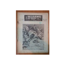 REVISTA CARPATII, VANATOARE, PESCUIT, CHINOLOGIE, ANUL XI ,  15 AUGUST CLUJ 1943, NR. 8