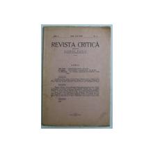 REVISTA CRITICA , ANUL 2 , NO. 2 , APRILIE - IUNIE 1928