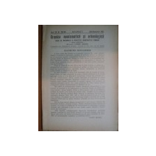 REVISTA CRONICA NUMISMATICA SI ARHEOLOGICA , ANUL XIX , NR. 135 - 136  , IULIE - DECEMVRIE 1945 , Bucuresti 1945