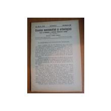 REVISTA CRONICA NUMISMATICA SI ARHEOLOGICA , ANUL XVIII , NR. 131 - 132   , IULIE - DECEMBRIE   1944 , Bucuresti 1944