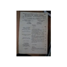 REVISTA DE DREPT PENAL SI STIINTA PENITENCIARA, AN. XIII / XVIII , NR.1-3 1934