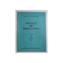 REVISTA DE PSIHOLOGIE , SERIE NOUA , TOMUL 40   , NR.4   , 1994
