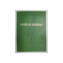 REVISTA DE PSIHOLOGIE , TOMUL 30  , NR. 2 , 1984