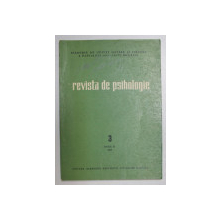 REVISTA DE PSIHOLOGIE , TOMUL 35   , NR. 3 , 1989