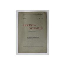 REVISTA GENIULUI  - REVISTA LUNARA , ANUL XII , NR. 11 - 12   , NOIEMBRIE  -DECEMBRIE  ,1929