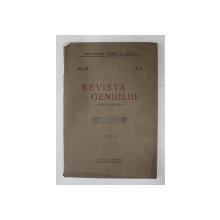 REVISTA GENIULUI  - REVISTA LUNARA , ANUL XII , NR. 8  , AUGUST , 1929
