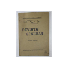 REVISTA GENIULUI  - REVISTA LUNARA , ANUL XVII  , NR. 5 , MAI  , 1934