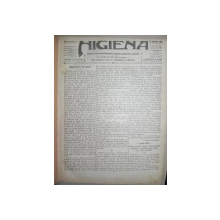 REVISTA  - HIGIENA   COLIGAT 1914-1916