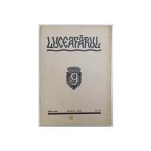 """REVISTA """" LUCEAFARUL """"  REVISTA LUNARA DE LITERATURA , ARTA SI CULTURA GENERALA , SERIE NOUA , ANUL III , NOEMVRIE , 1943"""