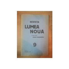 REVISTA LUMEA NOUA - MIHAIL MANOILESCU , ANUL V SEPTEMBRIE 1936 , NR 9