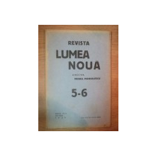 REVISTA LUMEA NOUA - MIHAIL MANOILESCU , ANUL VIII MAI-IUNIE 1939 , NR. 5-6
