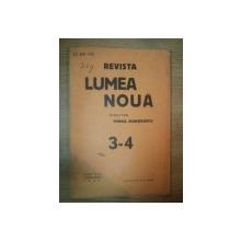 REVISTA LUMEA NOUA - MIHAIL MANOILESCU , ANUL VIII MARTIE-APRILIE 1939 , NR. 3-4