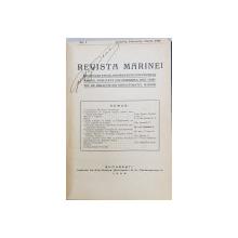 REVISTA MARINEI, NO. 1, IANUARIE, FEBRUARIE, MARTIE 1926 - BUCURESTI, 1926