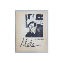 """Revista """"Mele"""", numărul 60, pe coperta portretul lui Ion Minulescu de Victor Brauner, 1982"""