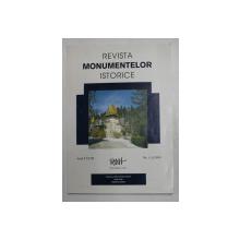 REVISTA MONUMENTELOR ISTORICE , ANUL LXVIII , NR. 1 - 2 , 1999