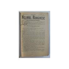 REVISTA ' NEAMUL ROMANESC ' , FOAIA NATIONALISTILOR - DEMOCRATI , ANUL V , COLEGAT DE  75 DE NUMERE APARUTE IN PERIOADA 1 IANUARIE - 28 IUNIE , 1910