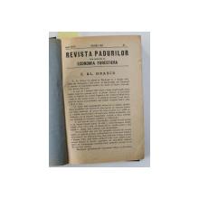 REVISTA PADURILOR UNIFICATA CU ECONOMIA FORESTIERA , ANUL XXXIV  , COLEGAT DE 12 NUMERE CONSECUTIVE , APARUTE IN IANUARIE - DECEMBRIE , 1922 , AN INTREG