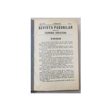 REVISTA PADURILOR UNIFICATA CU ECONOMIA FORESTIERA , ANUL XXXV  , COLEGAT DE 12 NUMERE CONSECUTIVE , APARUTE IN IANUARIE - DECEMBRIE , 1923, AN INTREG