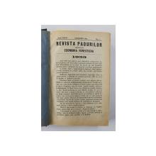 REVISTA PADURILOR UNIFICATA CU ECONOMIA FORESTIERA , ANUL XXXVI , COLEGAT DE 12 NUMERE CONSECUTIVE , APARUTE IN IANUARIE - DECEMBRIE , 1924 , AN INTREG