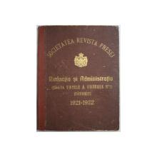 REVISTA PRESEI  - PUBLICATIUNE LUNAR ILUSTRATA , COLEGAT DE 12 NUMERE , APARUTE INTRE NOIEMBRIE 1920 SI OCTOMBRIE 1921 , ANII I si II , NUMERELE 1 - 12