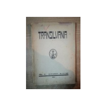 REVISTA TRANSILVANIA , ANUL 73 , IULIE-AUGUST 1942 , NR. 7-8 , Sibiu