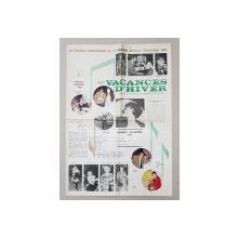 REVISTA ' VACANCES D 'HIVER '   - LE FESTIVAL INTERNATIONAL DE LA CHANSON BRASOV - ROUMANIE 1969 , REVISTA O.NT. - ULUI  , APARUTA 1969