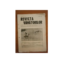 REVISTA VANATORILOR, ANUL IV, NR. 33, MARTIE 1923