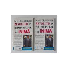 REVOLUTIE IN TERAPIA BOLILRO DE INIMA de DR. MED.  DEAN ORNISH , VOLUMELE I - II , 1994