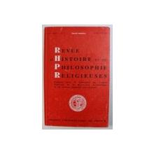 REVUE D' HISTOIRE ET DE PHILOSOPHIE RELIGIEUSES , 69 e ANNEE , No. 2 , AVRIL - JUIN , 1989