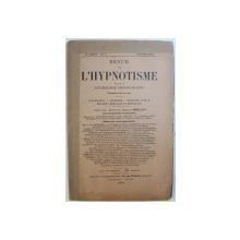REVUE DE L'HYPNOTISME ET DE LA PSYCHOLOGIE PHYSIOLOGIQUE , 16ANNEE - No7, JANVIER 1902