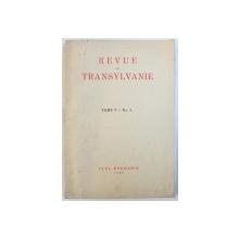 REVUE DE TRANSYLVANIE, TOME V, NO. 4, OCTOBRE-DECEMBRE, 1939