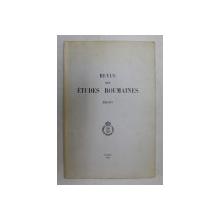 REVUE DES ETUDES ROUMAINES XIII -XIV , 1974