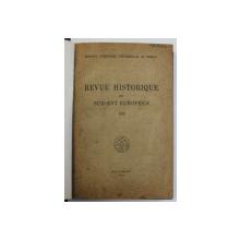 REVUE HISTORIQUE DU SUD - EST EUROPEEN , TOME XXII , 1945