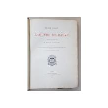 ROGER BALLU, L'OEUVRE DE BARYE - PARIS, 1890
