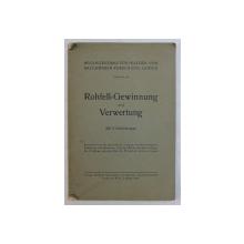 ROHFELL  - GEWINNUNG UND VERWERTUNG ( PIELEA BRUTA  - OBTINERE SI EXPLOATARE ) , 1933