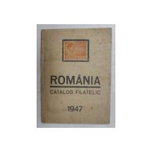 ROMANIA - CATALOG FILATELIC - CATALOGUL MARCILOR ROMANESTI , intocmit de F. KONRAD ( ORADEA ) , APARUT 1947