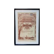 ROMANIA PETROLIFERA - FRATIA - SOCIETATE ANONIMA ROMANA ' - CERTIFICAT DE ZECE ACTIUNI LA PURTATOR IN VALOARE DE CINCI MII LEI, 1922