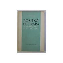 ROMINA LITERARA SI PROBLEMELE EI PRINCIPALE de I. COTEANU , 1961